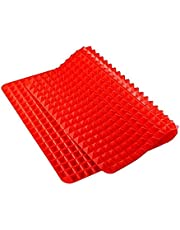 Silicone Pyramid Baking Mat, Pastry with Fat Reducing Healthy Cooking Heat-Resistant Non-stick for Oven Grilling BBQ