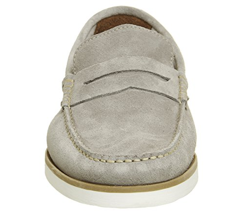 Ask The Missus Herbert Penny Loafers Grey Suede toQMu