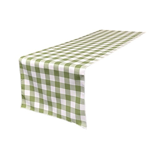 Gingham Table Runner (LA Linen Double Sided Checkered Gingham Table Runner 14 by 108