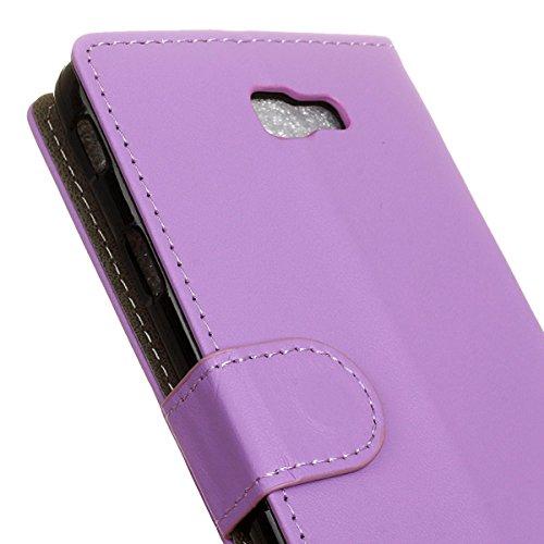 Funda Samsung Galaxy J7 Prime Billetera Carcasa, Forhouse Lustroso Ligero Flip Prima PU Cuero Wallet Caso con [Kickstand][Ranuras para Tarjetas y Caja][Cierre Magnético] Delgado Fit Book Style Anti-Ch Púrpura