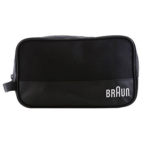 Price comparison product image Braun Men's Grooming Travel Toiletry Shave Case Wash Bag Zippered (Black)