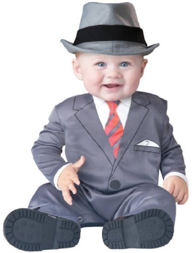 InCharacter Baby Boy's Businessman Costume, Grey, Small (Business Baby)