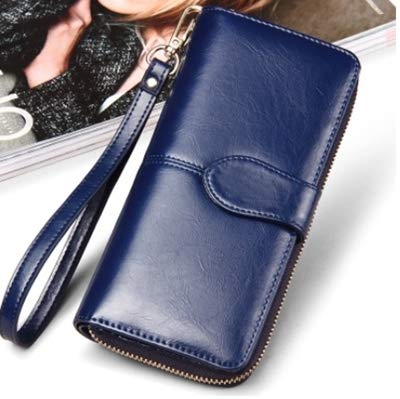 76156f0c2292 Amazon.com: Vintage Leather Women Long Wallets Ladies Fashion Wallet ...