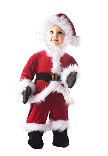 Underwraps Santa Costume (Underwraps Baby's Santa Onesie Costume, Red/White/Black, Medium)