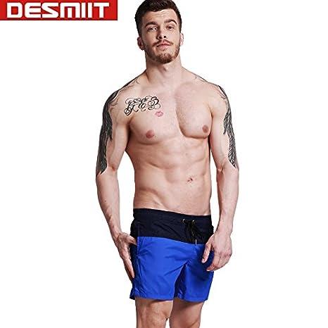 52787441b2 Generic G304 Light Green, M : DESMIIT men's swimming trunks white