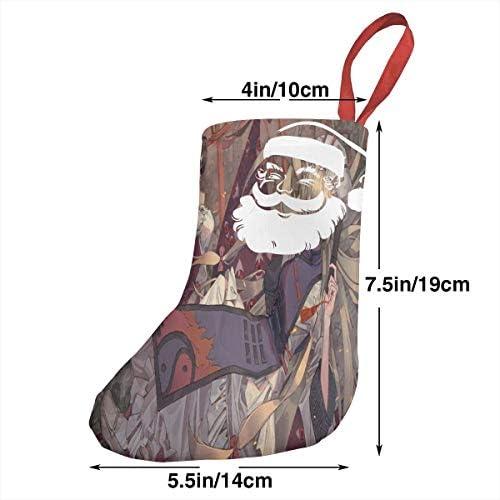クリスマスの日の靴下 (ソックス3個)クリスマスデコレーションソックス モンスターマスター クリスマス、ハロウィン 家庭用、ショッピングモール用、お祝いの雰囲気を加える 人気を高める、販売、プロモーション、年次式