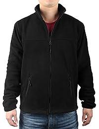 Men's Full Front Zip Fleece Casual Lightweight Jacket 5451