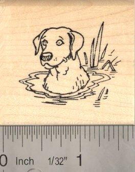 Labrador Retriever Dog Rubber Stamp