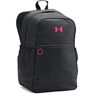 Under Armour Girls' Favorite Backpack, Black/Harmony Red, One Size