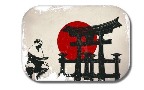(Japan Flag Sumo Vinyl Sticker - Car Phone Helmet - SELECT SIZE)