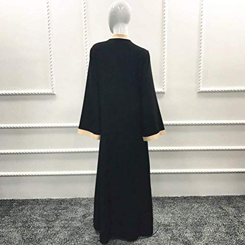 Abbigliamento Abaya Muslims Babaseal Abito Viola di Gown Abito stampa lungo donna da comfort Robes r8rvqRxzw