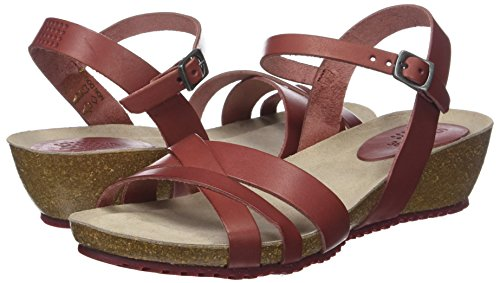 416 Tbs Red cranberry Women's Sandals Open Toe Sabinne xzqP0xZB