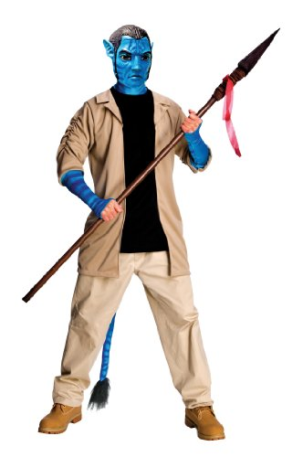 Avatar Adult Deluxe Jake Sully Costume And Mask, Blue, X-Large -