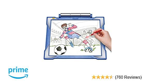 Amazon Com Crayola Light Up Tracing Pad Blue Coloring Board For