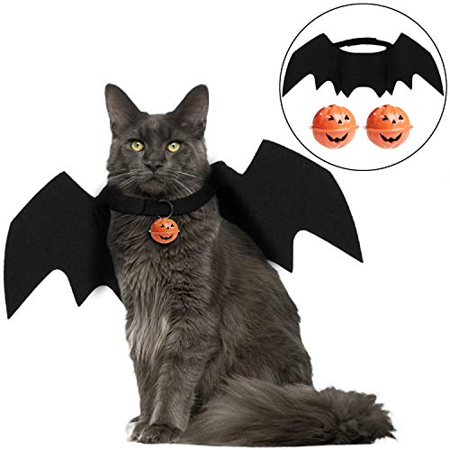 Bageek Cat Costume Halloween Bat Wings Pet Costumes Pet Apparel for Cats and Small Dogs