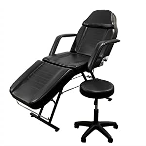 New Massage Table Bed Chair Beauty Barber Chair Facial Tattoo Chair Salon Equipment Includes Stool