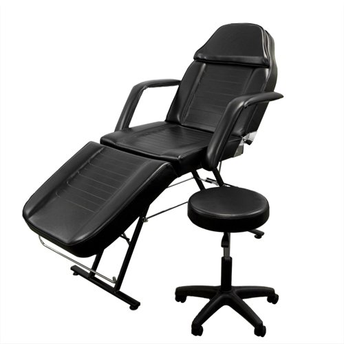 Best Choice Products 71in 3-Section Commercial Massage Bed, Spa and Salon Facial Chair, Tattoo Chair w/Hydraulic Stool, Removable Headrest, Facial Cradle, Towel Hanger
