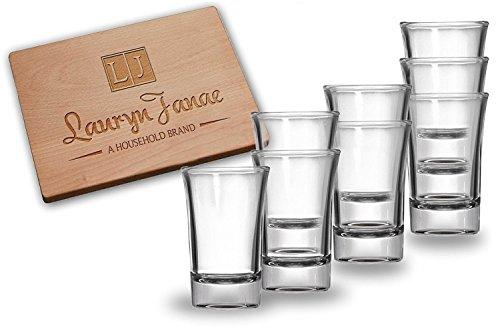 Lauryn Janae Premium Glassware 1.5oz Heavy Base Clear Shot Glasses, Cocktail, Appetizer, Parait, Trifle, or Dessert Taste Samplers (Set of 8) (Shot Glass Sonoma)