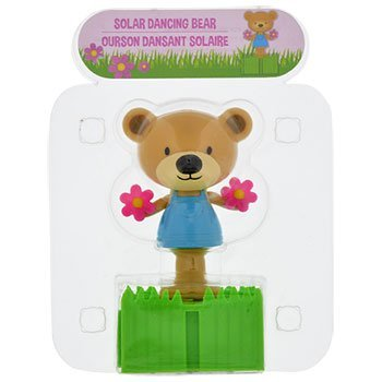 Plastic Solar-Powered Connectable Dancing Bears with Flowers - Bear Dancing Flowers