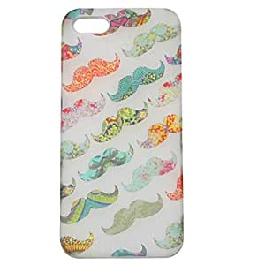 GJYPVC Colorful Moustache Hard Case for iPhone 5/5S