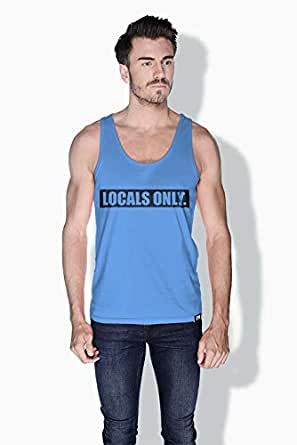 Creo Locals Only Funny Tanks Tops For Men - Xl, Blue