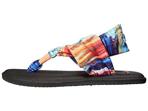 Sanuk Kvinners Yoga Fatle To Flip-flop Korall / Multi Marmor