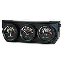 """Auto Meter 2391 1-1/2"""" Short Sweep Electric Three-Gauge Console"""