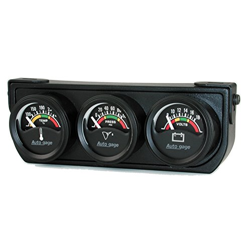 Auto Meter 2391 Black Oil Water Volt Gauge -