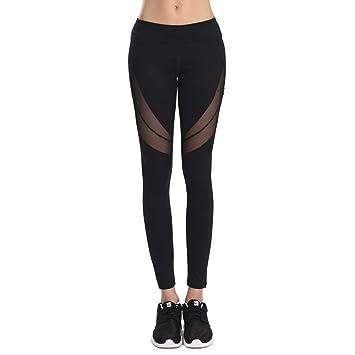 0dc4b99c26742 SEEU Damen Fitness Sport Sporthosen Tights Legging Laufhose ...