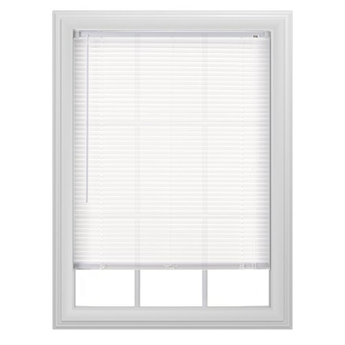 "Bali Blinds 1"" Light Filtering Vinyl Corded, 35x64"", White"