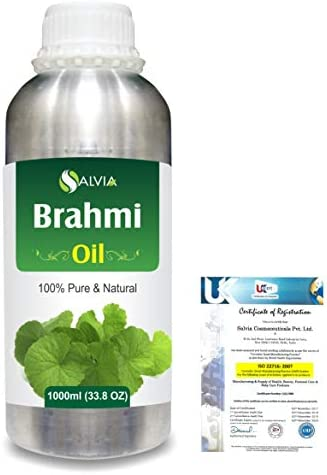 Brahmi (bacopa monniera) 100% Natural Pure Oil 1000ml/33.8fl.oz.