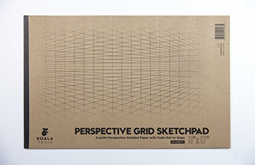 Koala Tools | Drawing Perspective (2-Point) Large Sketch Pad | 11