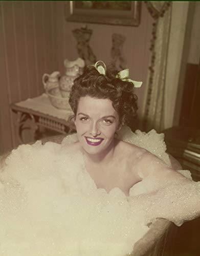 (Jane Russell Iconic Sexy Photo in Bubble Bath Vintage Original 5x4 transparency)