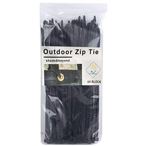 Shade&Beyond Cable Ties Self-Locking Nylon Zip Ties Multipurpose for Home Office Fence Screen Black Pack of 100