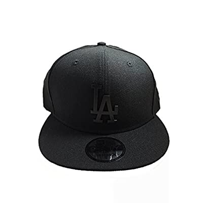 Los Angeles Dodgers Black on Black Cap with Black Metal Logo by New Era 9Fifty