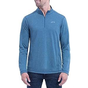 Orvis Men's Sandy Point ¼ Zip Pullover (M, Blue)
