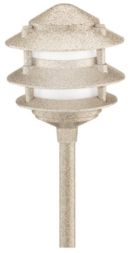 Malibu 8303-9200-01 Cast Metal Tier Light, Sand