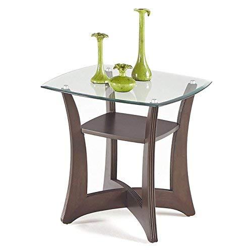 Progressive Furniture T331-02 Abacoa Square Lamp Table 25 x 25 x 25 Brown ()