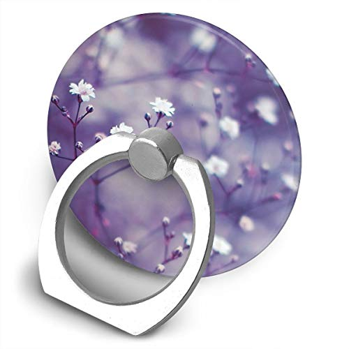 (Cell Phone Finger Ring Holder Lavender Pretty Picture 360 Degree Rotating Stand Grip Mount Phone Bracket)