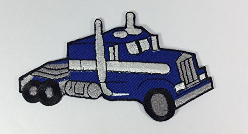 (Blue Tow Truck DIY Applique Embroidered Sew Iron on Patch p#308)