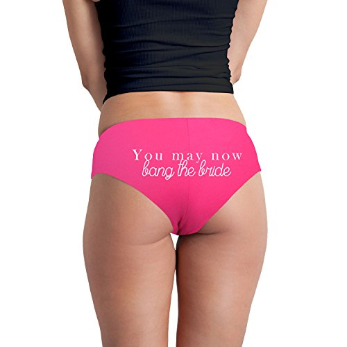 You May Now Bang The Bride Just Married Funny Women's Boyshort Underwear Panties – Fuchsia Medium