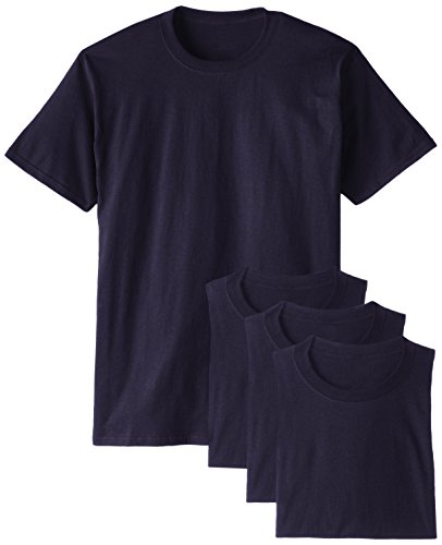 Hanes Men's Comfortsoft T-Shirt (Pack Of 4),Navy,X-Large (Navy Tee T-shirt)
