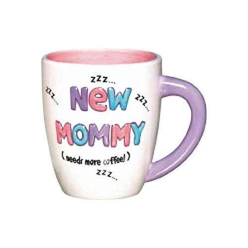 Amscan Delightful New Mommy Mug Baby Shower Party Novelty Favors, 16 oz, White/Pink