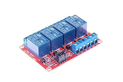 KNACRO 4-Channel Relay Module DC 12V with Optocoupler isolation H / L high / low Level Triger for - Four Channel Module