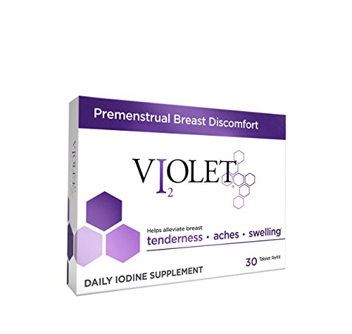 Violet Iodine Supplement for Premenstrual Breast Discomfort (30-Day Refill Pack)