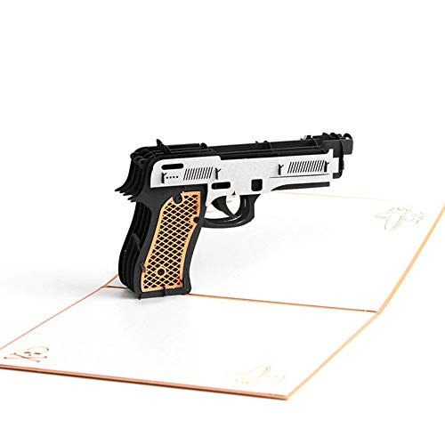 op Up Gun Sharpshooter Birthday Cards Creative Greeting Cards Papercraft (Q513202) ()