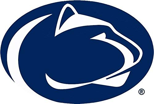 Penn State Logo Blue And White Edible Cake Topper Image ABPID06756 - 1/2 sheet