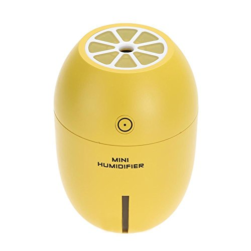 180ml USB Lemon Ultrasonic Air Humidifier Portable w/ LED Light Home Office Car