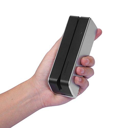 Honsdom USB HiCo 3 Tracks Magnetic Stripe Credit Card Reader Writer Encoder MSR X8 (Silver) by Honsdom