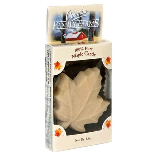 Coombs Family Farms 100% Pure Maple Candy, Maple Leaf, 1.5-Ounce Packages (Pack of 16)